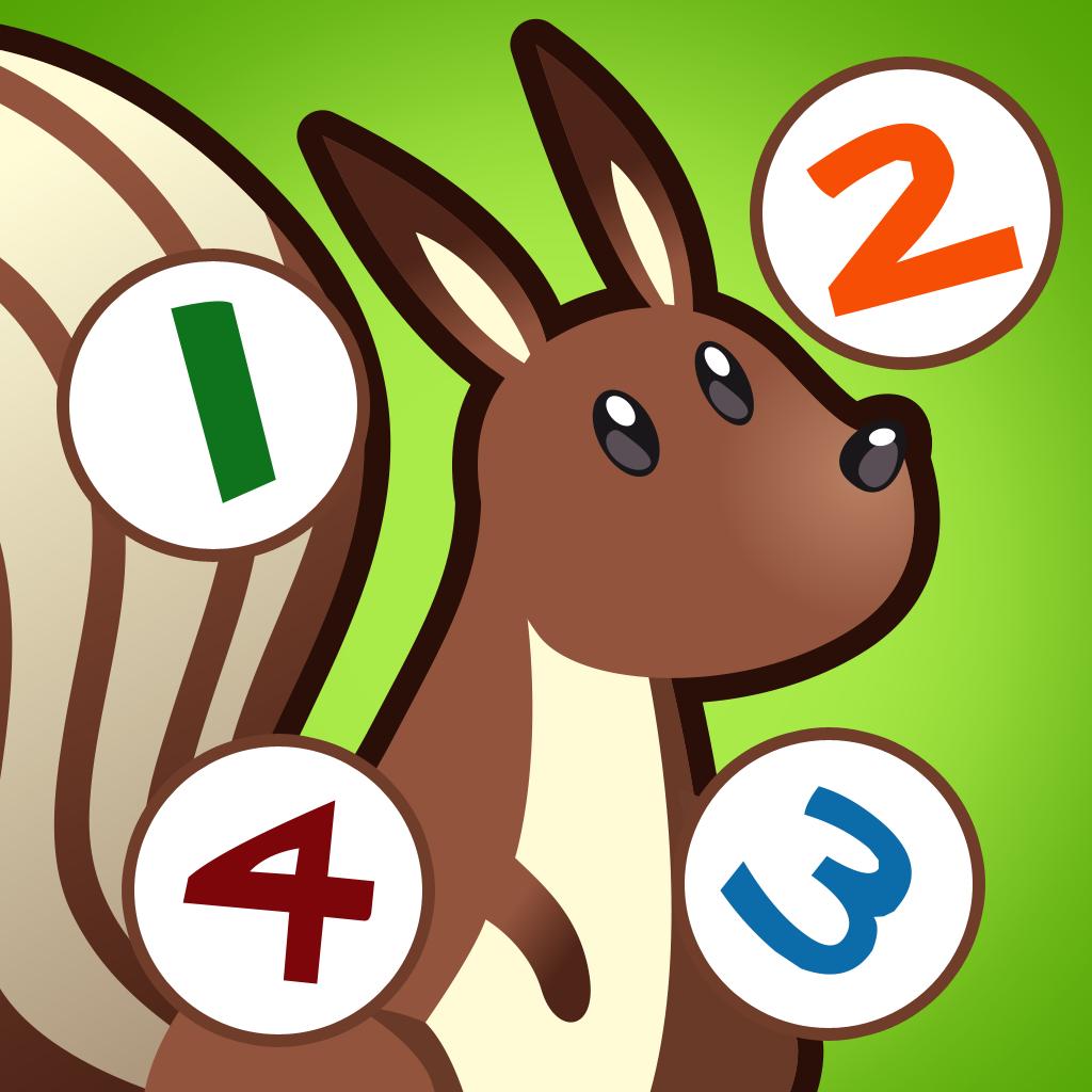 儿童游戏2-5岁左右的森林动物:学会数数1-10幼儿园
